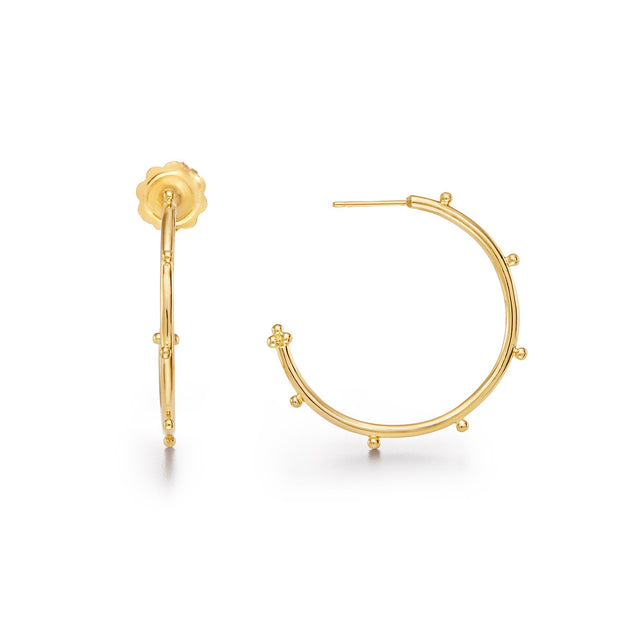 Temple St. Clair 18k Yellow Gold Medium Hoops