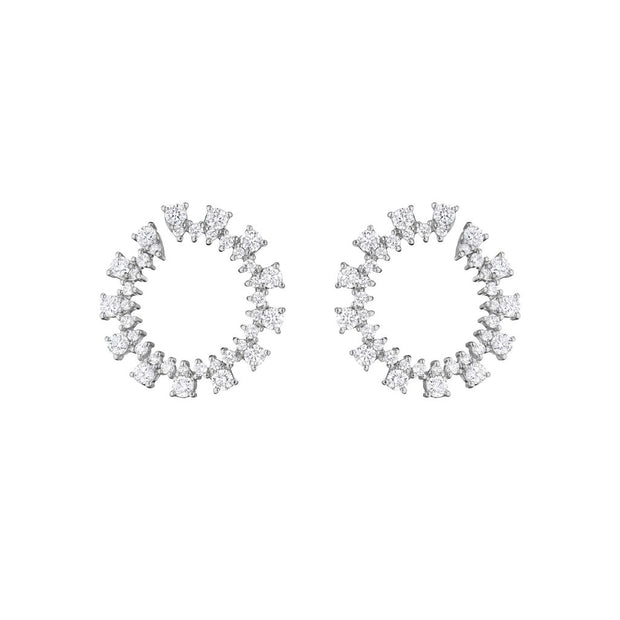 Penny Preville 18k White Gold Hoops