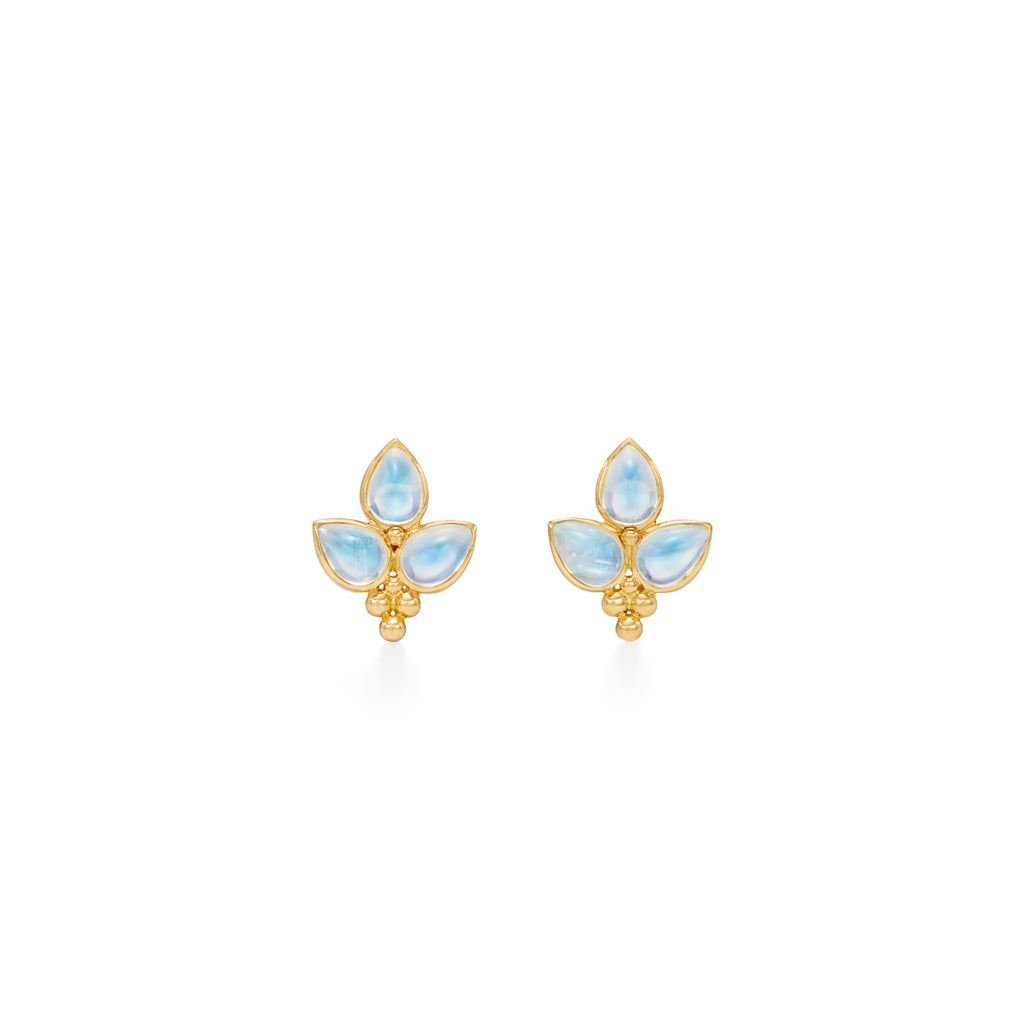 Temple St. Clair 18K Yellow Gold Foglia Trio Earring