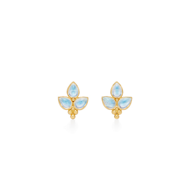 Temple St. Clair 18k Yellow Gold Moonstone Studs