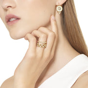 Temple St. Clair 18k Yellow Gold Cutout Diamond Drops