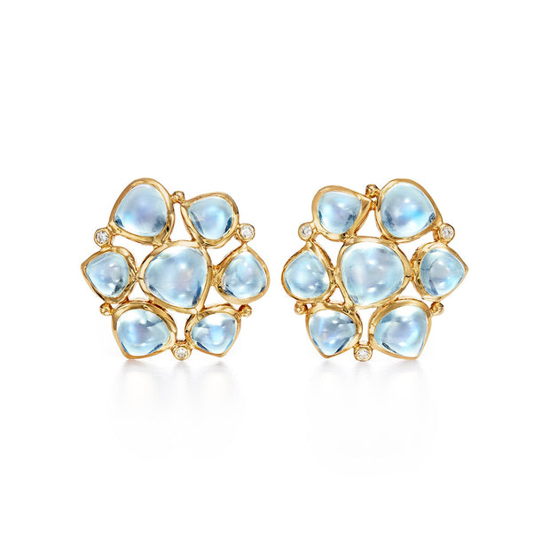 Temple St. Clair 18k Moonstone and Diamond Studs
