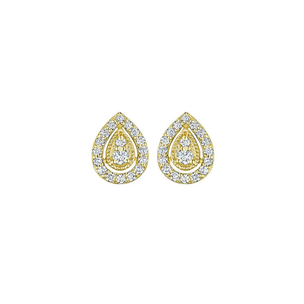 Penny Preville Pear Shaped Diamond Stud Earring