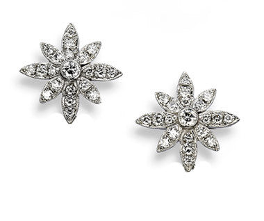 Aaron Henry 18kt White Gold Diamond Snowflake Earring