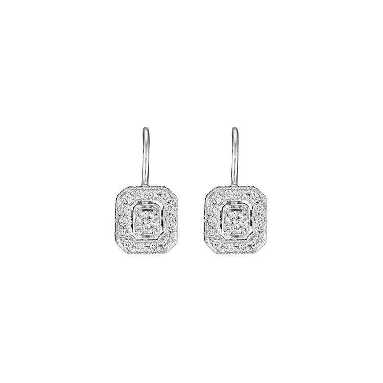 Penny Preville Diamond Earrings on French Wire