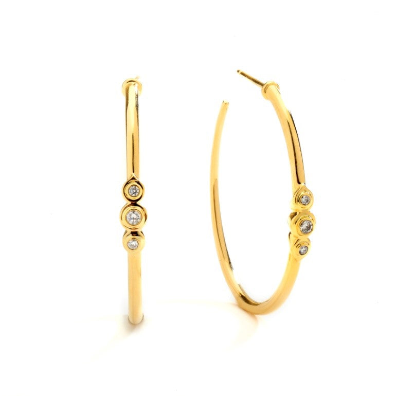 Syna 18kt Yellow Gold Diamond Hoop Earrings