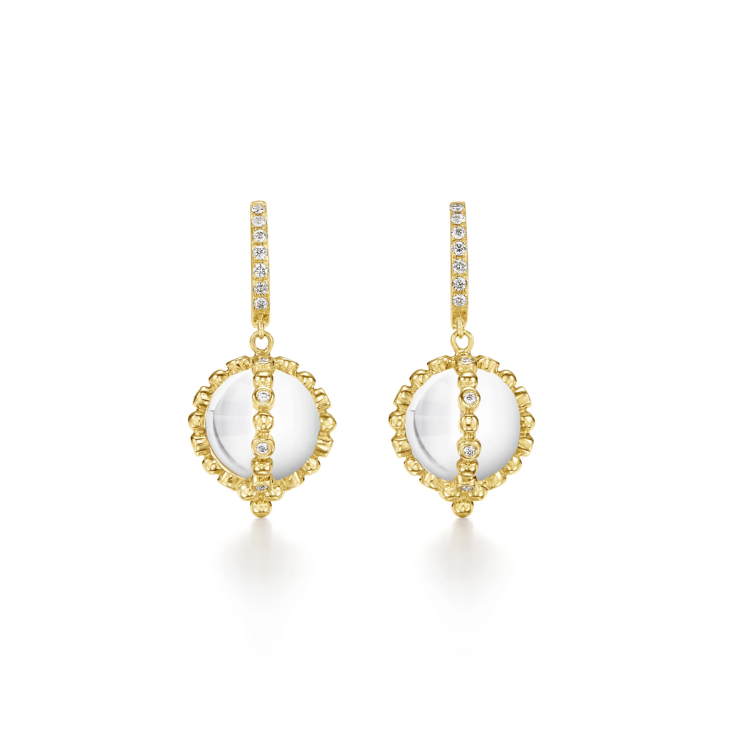 Temple St. Clair 18K Sassini Amulet Earring with Diamonds