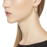 Temple St. Clair 18k Yellow Gold Diamond and Rock Crystal Drops