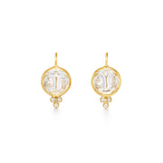 Temple St. Clair 18k Yellow Gold Crystal and Diamond Drops