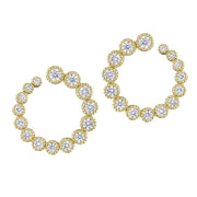 Penny Preville 18k Yellow Gold Wrap Around Hoops