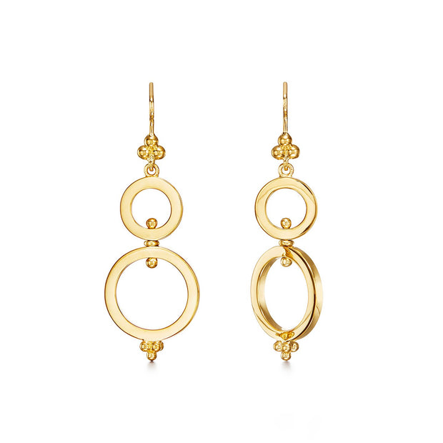 Temple St. Clair 18k Yellow Gold Three Hoop Drops