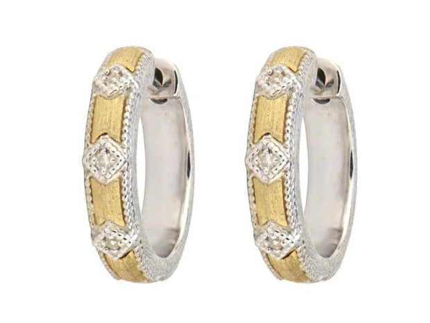 Jude Frances 18k Yellow Gold and Sterling Silver Small Hoops