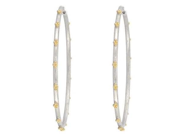 Jude Frances 18k Yellow Gold and Sterling Silver Extra Large Hoops