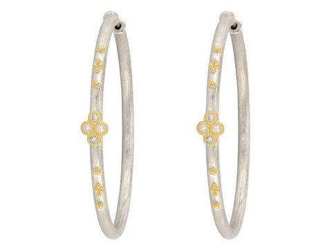 Jude Frances 18k Yellow Gold and Sterling Silver Large Hoops