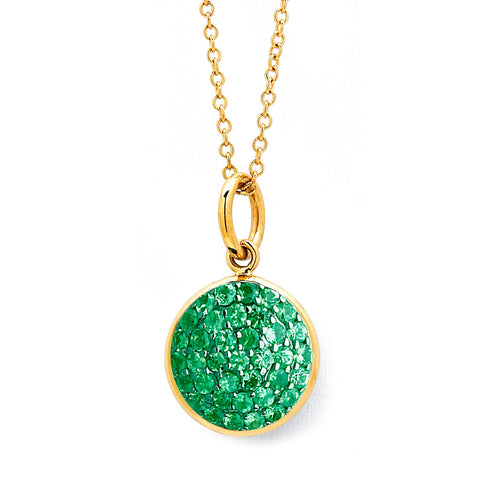 Syna 18k Yellow Gold Emerald Pendant