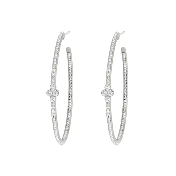 Jude Frances Sterling Silver Large Hoops