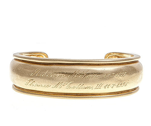 "LPL Signature Collection ""The Laura"" Custom 18k Yellow Gold Cuff"