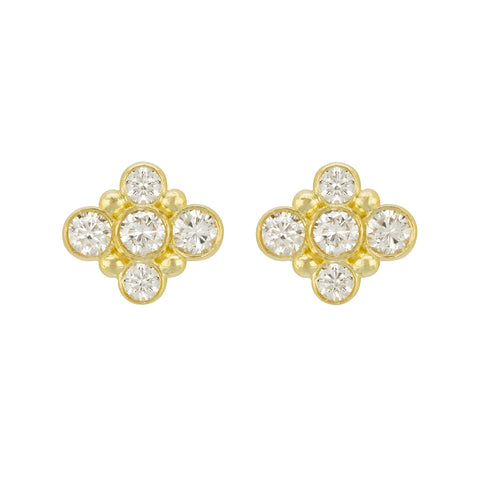 LPL Collection 18K Yellow Gold and Diamond Studs