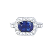 LPL Signature Collection Platinum Sapphire and Diamond Ring