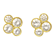 "LPL Signature Collection 18k Yellow Gold ""Anderson"" Diamond Studs - Large"
