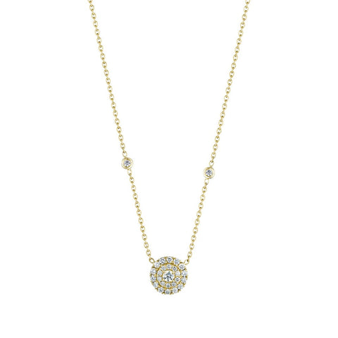 Penny Preville 18k Yellow Gold Round Shaped Diamond Necklace