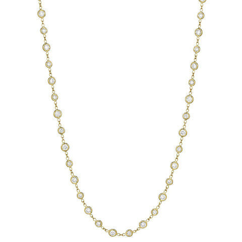 Penny Preville 18k Yellow Gold Diamond Diamond by the Yard Necklace