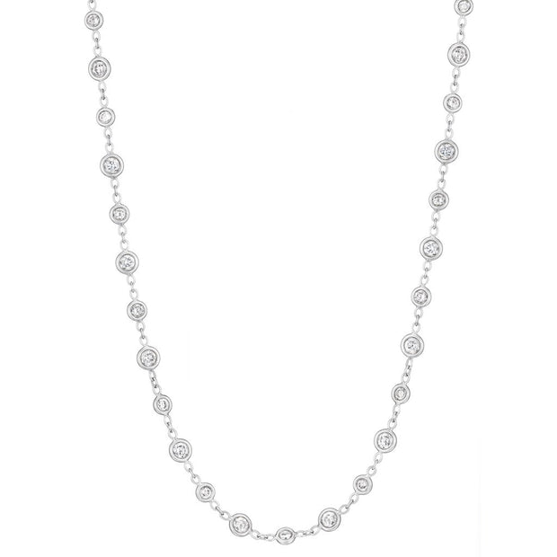 Penny Preville 18k White Gold Diamond by the Yard Necklace