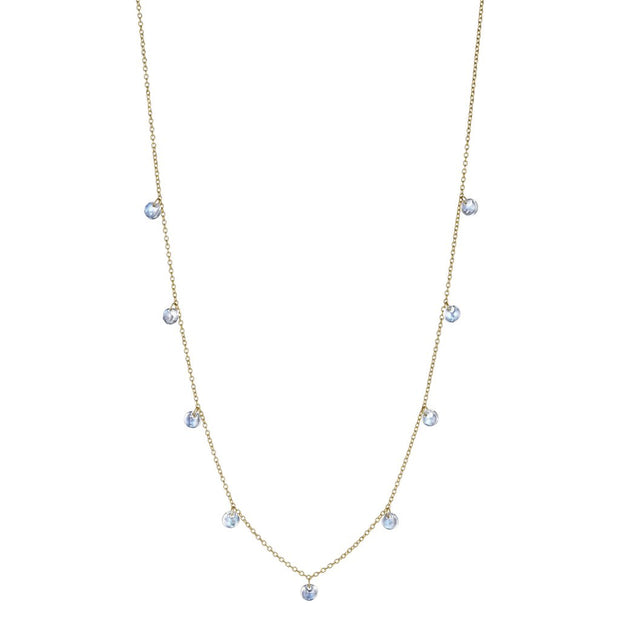 Penny Preville 18k Yellow Gold Drilled Moonstone Necklace
