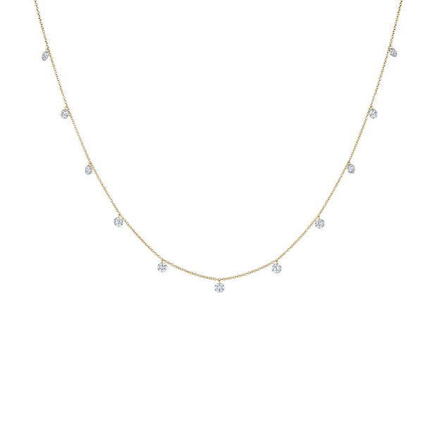 Penny Preville 18k Yellow Gold Drilled Diamond Necklace