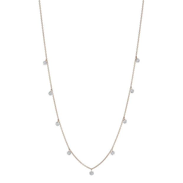 Penny Preville 18k Yellow Gold Drilled Diamond Necklace - 9 Station