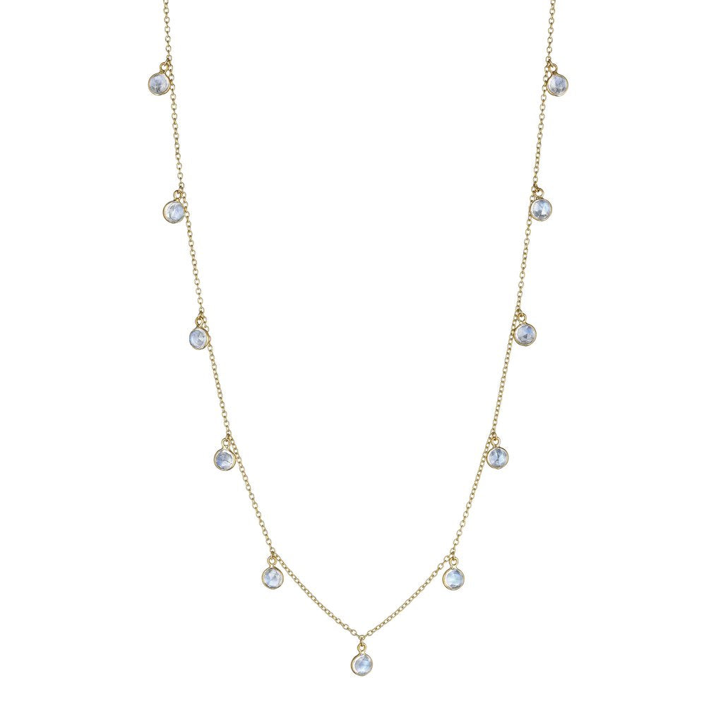 Penny Preville 18kt Yellow Gold Hanging Moonstone Necklace