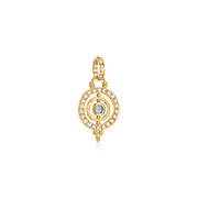 Temple St. Clair 18k Yellow Gold Piccolo Tolomeo Royal Blue Moonstone and Diamond Enhancer