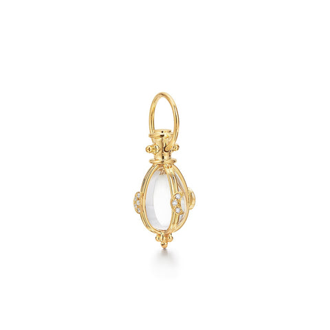Temple St. Clair 18k Yellow Gold Rock Crystal and Diamond Lunar Amulet