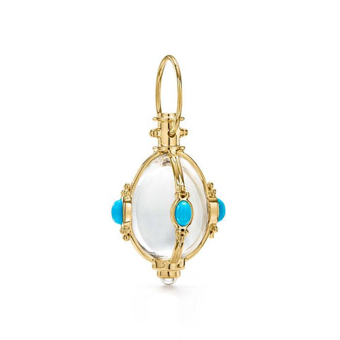 Temple St. Clair 18k Yellow Gold Turquoise Amulet