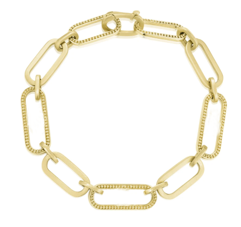 Penny Preville 18k Yellow Gold Beaded Link Bracelet