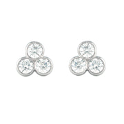 LPL Signature Collection Platinum Tri Bezel Diamond Studs