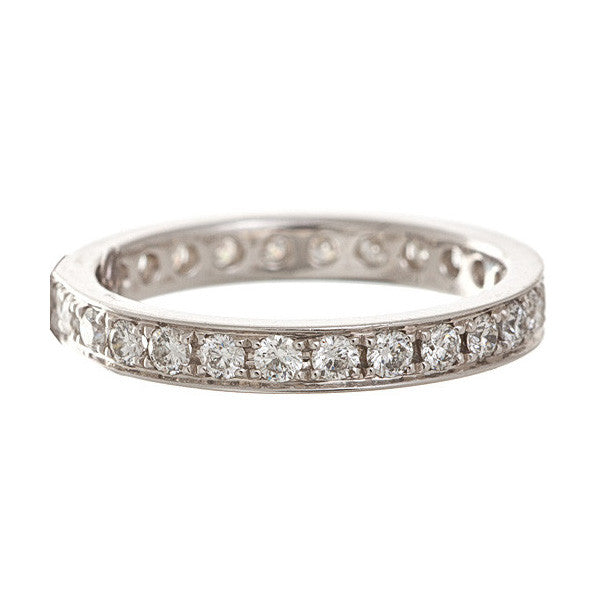 Platinum Bead Set Diamond Band