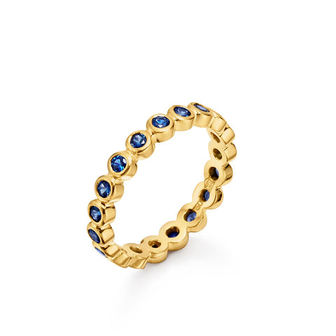Temple St. Clair 18K Yellow Gold Sapphire Eternity Band