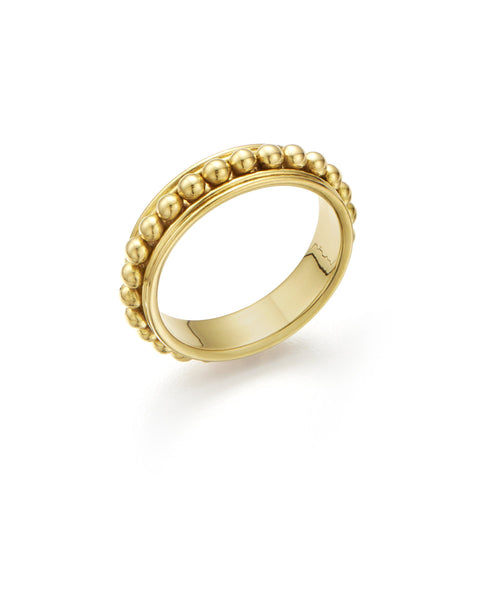 Temple St. Clair 18K Yellow Gold 3mm Sassini Beaded Ring
