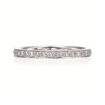 Platinum and Diamond Bead Set Eternity Band
