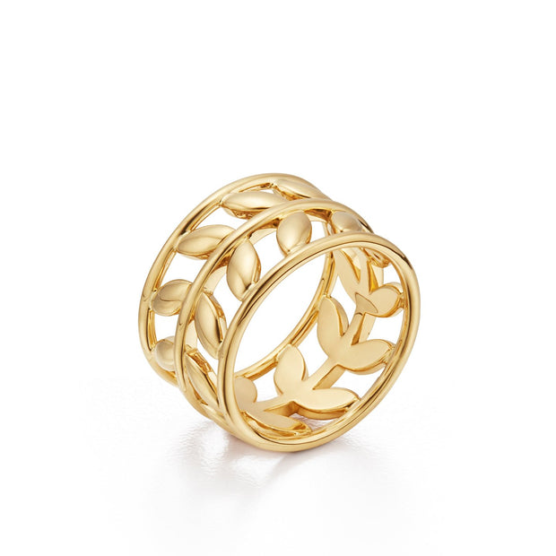 Temple St. Clair 18K Yellow Gold Vine Ring
