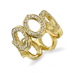 Aaron Henry 19 karat Yellow Gold Diamond Band