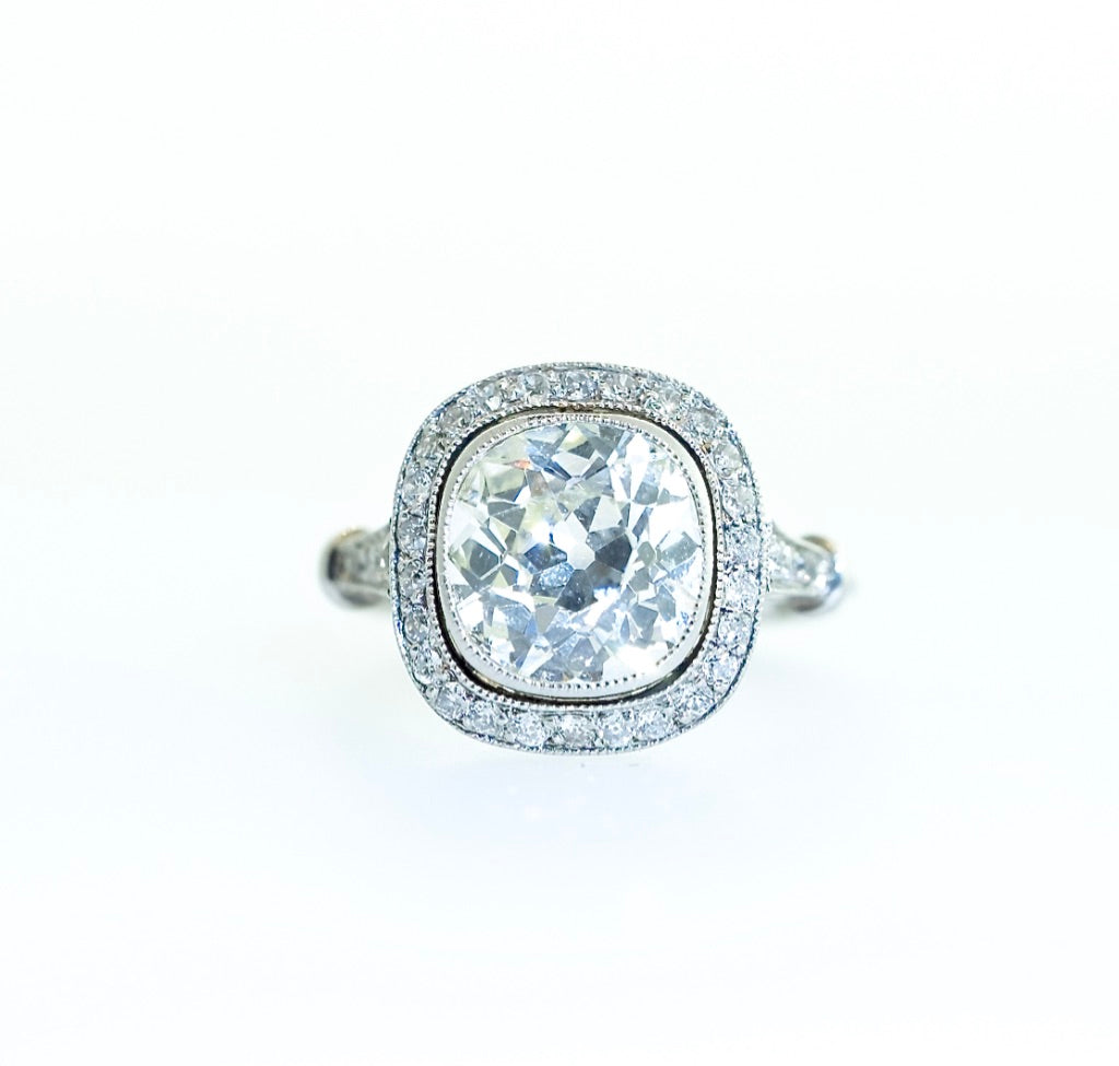 Estate Platinum and Diamond Engagement Ring