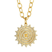 Syna 18k Yellow Gold Diamond Sun Pendant
