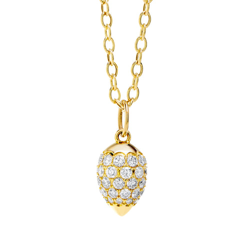 Syna 18k Yellow Gold Diamond Pendant