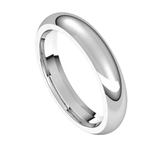 White Gold 4mm Comfort Fit Band