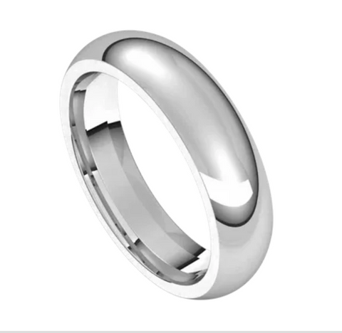 White Gold 5mm Comfort Fit Band