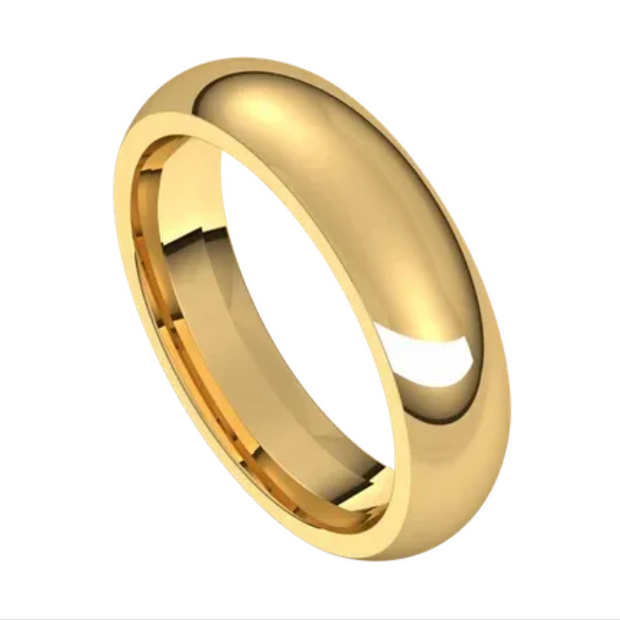 Yellow Gold 5mm Comfort Fit Band