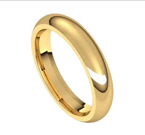 Yellow Gold 4mm Comfort Fit Band