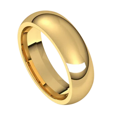 Yellow Gold 6mm Comfort Fit Band